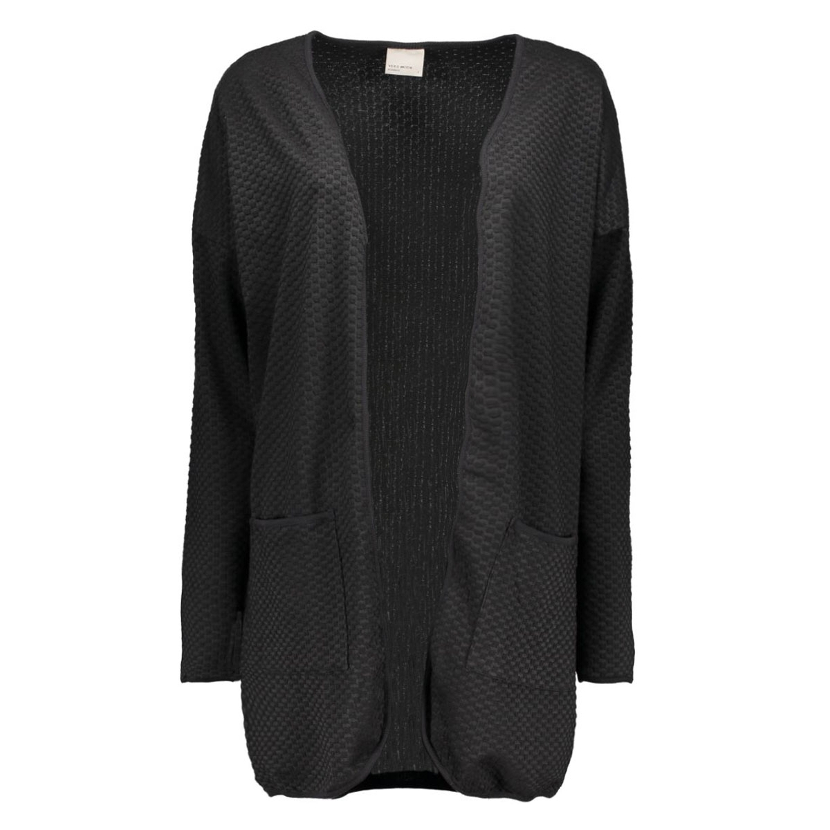 vmjenny ls long cardigan 10160753 vero moda vest black/solid