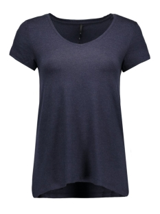 onlmoster s/s v-neck top noos jrs 15123710 only t-shirt night sky