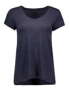 Only T-shirt onlMOSTER S/S V-NECK TOP NOOS JRS 15123710 Night Sky