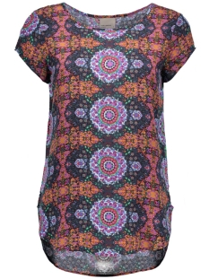 vmboca ss blouse multi printed 10132802 vero moda t-shirt adobe/malu print