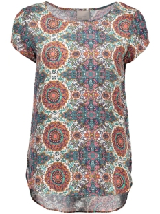 vmboca ss blouse multi printed  10132802 vero moda t-shirt cream tan/malu print