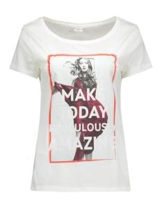jdyshay s/s print top 06 jrs 15121587 jacqueline de yong t-shirt cloud dancer/amazing