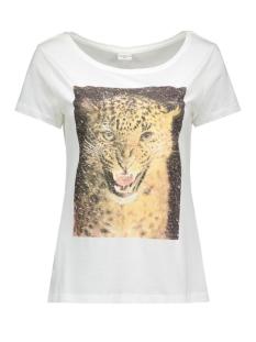 jdyshay s/s print top 06 jrs 15121587 jacqueline de yong t-shirt cloud dancer/leo