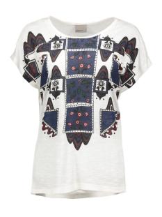 vmgeo luna s/s midi top d2-6 a 10162772 vero moda t-shirt snow white/woodstock