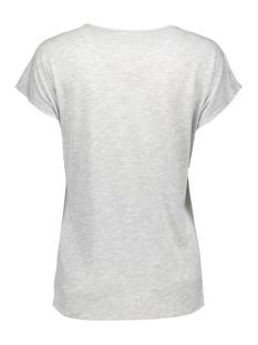 vmgeo luna s/s midi top d2-6 a 10162772 vero moda t-shirt light grey mela/woodstock