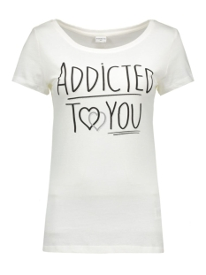 jdyulle s/s print top jrs 15127867 jacqueline de yong t-shirt cloud dancer/addicted