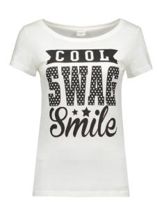 jdyulle s/s print top jrs 15127867 jacqueline de yong t-shirt cloud dancer/cool swag