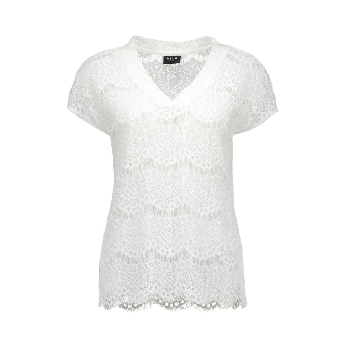 viamira top tb 14036480 vila t-shirt snow white