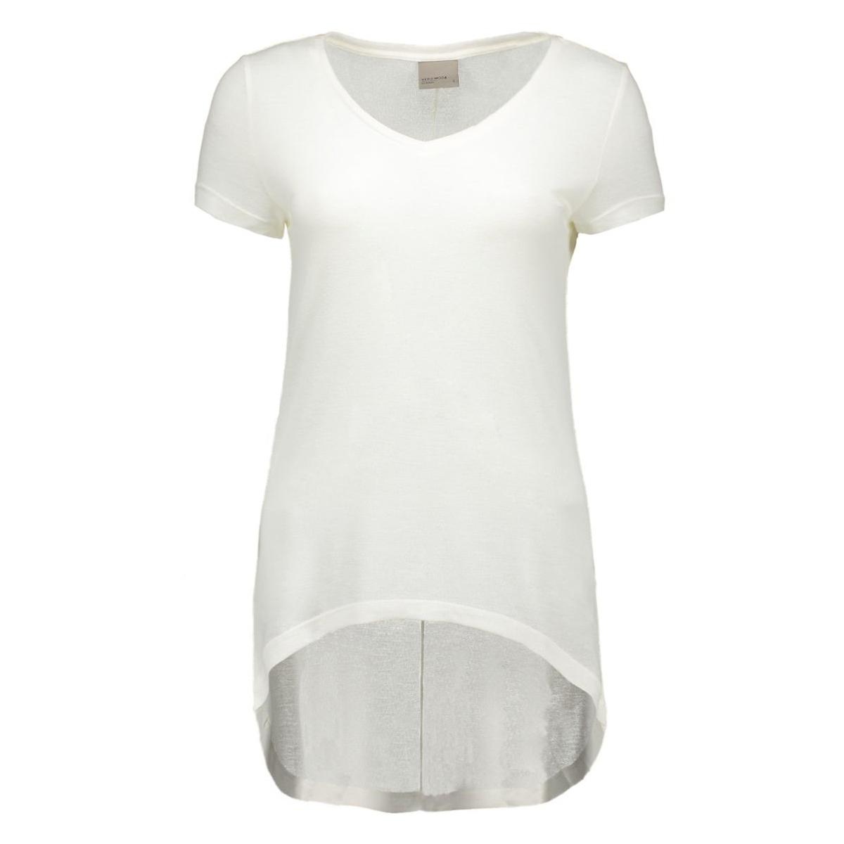 vmlondon ss v-neck top boo 10158555 vero moda t-shirt snow white