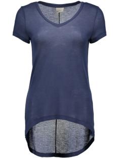 vmlondon ss v-neck top boo 10158555 vero moda t-shirt black iris