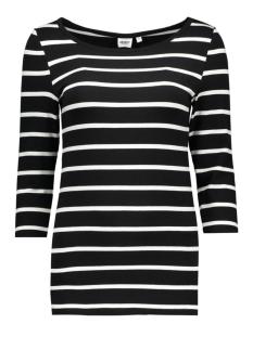 Object T-shirt OBJELONA 3/4 BOATNECK TOP NOOS 23022841 Black- Noos
