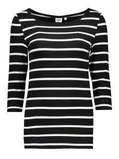 objelona 3/4 boatneck top noos 23022841 object t-shirt black- noos