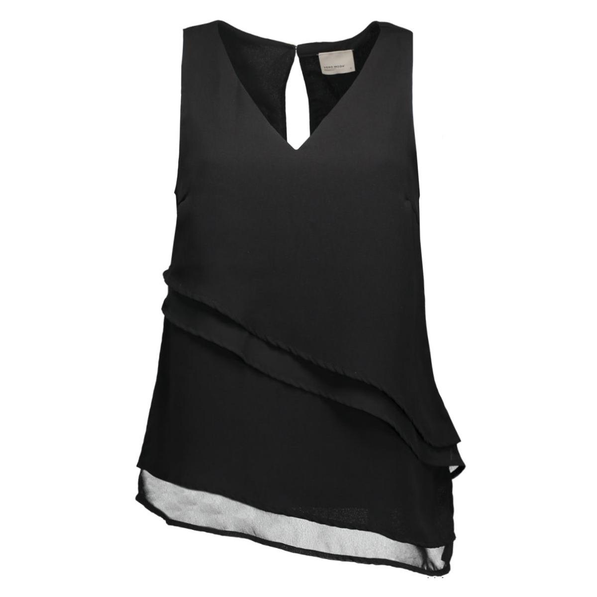 vmalicia s/l midi top e10 10168612 vero moda top black/black