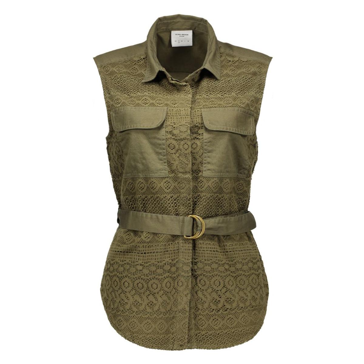 vmzoe s/l vest dnm v 10156277 vero moda gilet ivy green