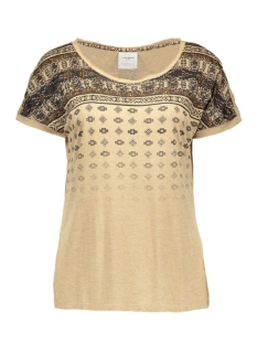 vmkrista new ss top dnm 10156531 vero moda t-shirt tannin/melange w.
