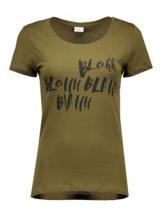 jdygin s/s print top 07 jrs 15118087 jacqueline de yong t-shirt dark olive/blah