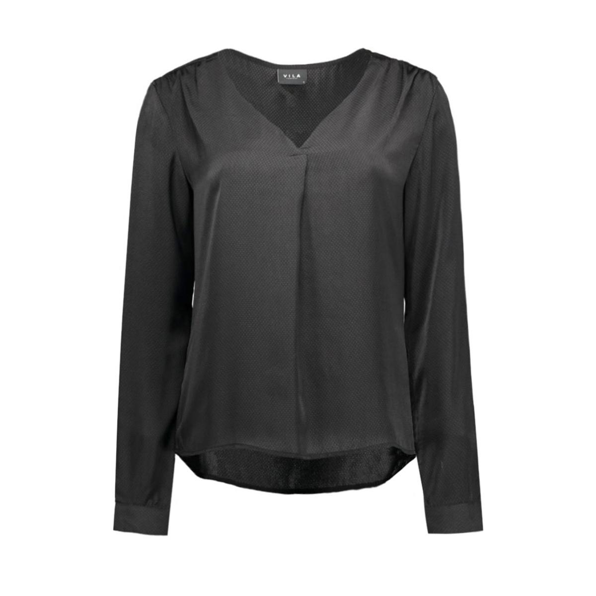vimelli l/s new top-noos 14036767 vila blouse black/dots
