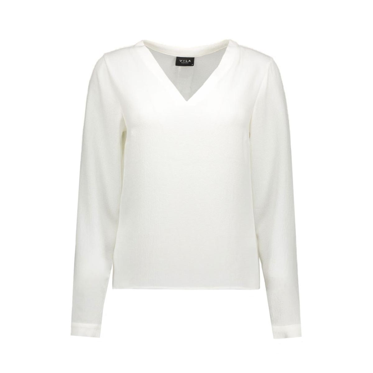 viremember l/s top-noos 14036047 vila blouse snow white