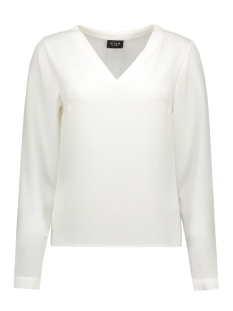 viremember l/s top-noos 14036047 vila blouse snow white