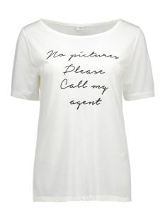 jdyjanis s/s top jrs 15117969 jacqueline de yong t-shirt cloud dancer/black text