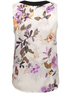 vmwanda contrast s/l top e10 10168645 vero moda top antique white/japan flow roze