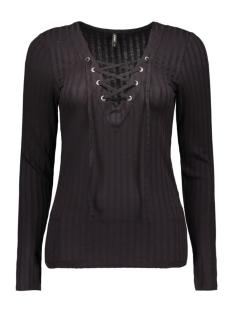 onlrikki l/s lace up top jrs 15126726 only t-shirt black