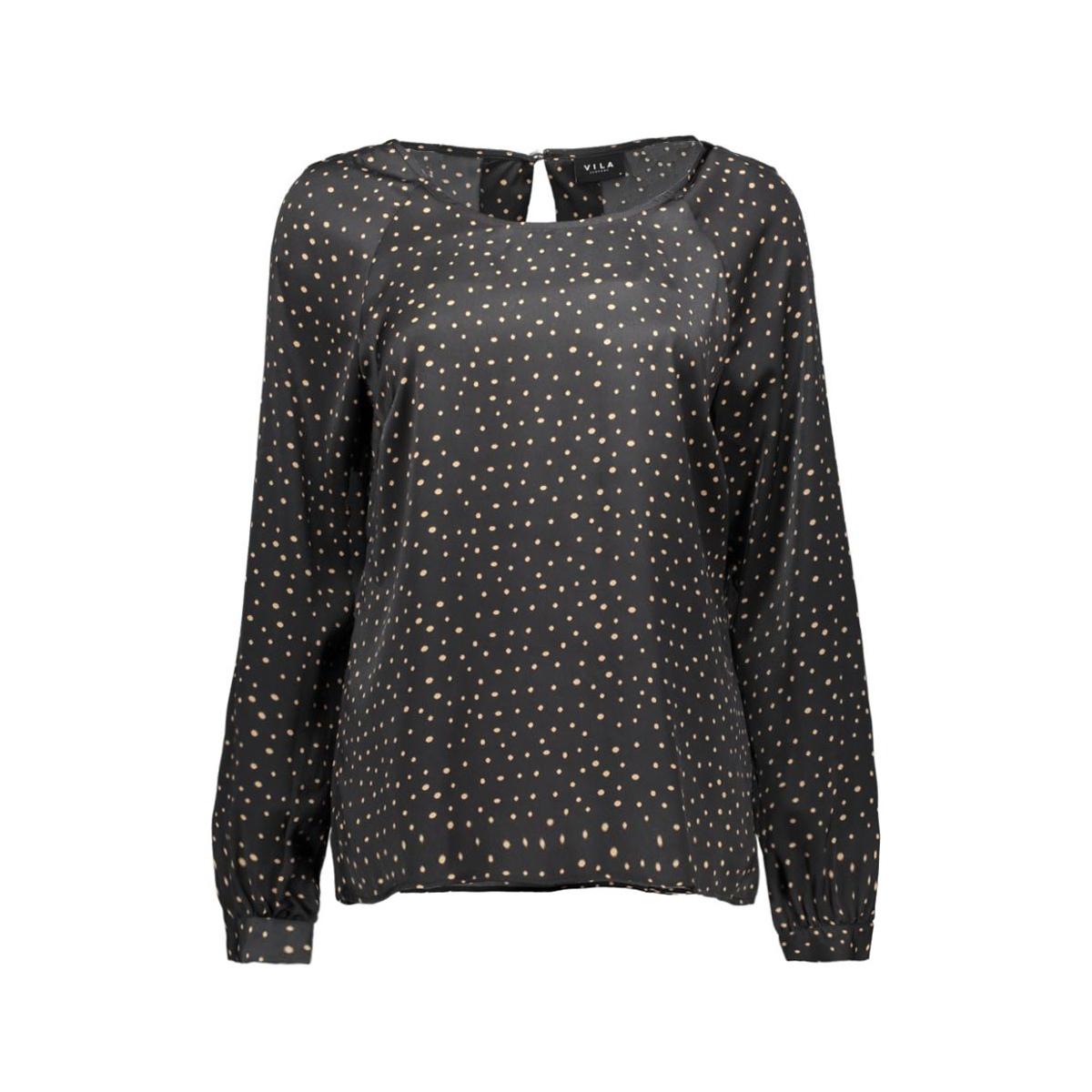 viwanga l/s top 14036504 vila blouse ebony/viwanga pr