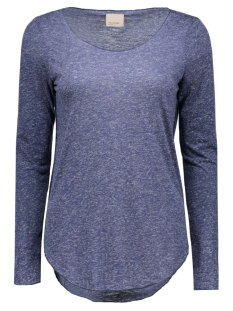 Vero Moda T-shirt VMLUA LS TOP NOOS 10158658 Black Iris