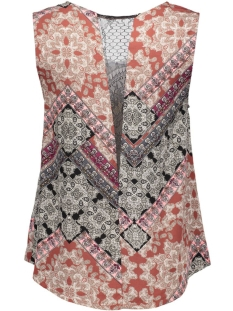 vmnewmaker lace tank top print 10156834 vero moda top henna/hilly print