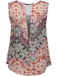 vmnewmaker lace tank top print 10156834 vero moda top henna/hilly print