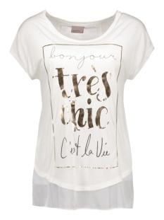 vmstine s/s top box jrs 10162229 vero moda t-shirt snow white/front