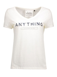 Only T-shirts onlKIMMI S/S ANYTHING/REVOIR TOP BO 15124409 Cloud Dancer/Anything