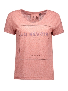 Only T-shirts onlKIMMI S/S ANYTHING/REVOIR TOP BO 15124409 Canyon Rose/Revoir