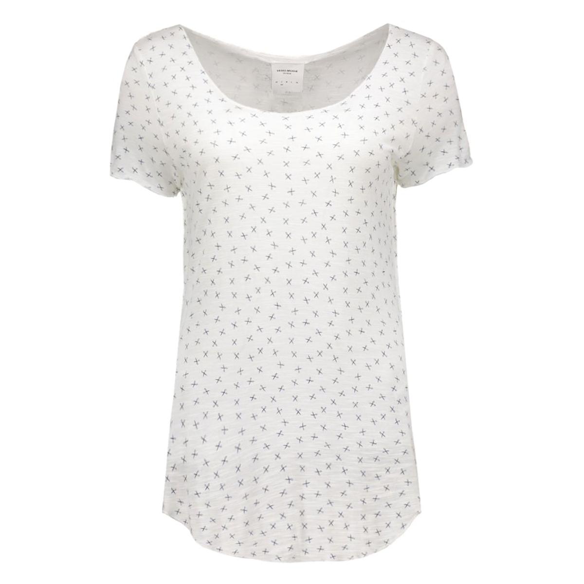 vmlua leisa ss top box dnm jrs 10161838 vero moda t-shirt snow white/scissor