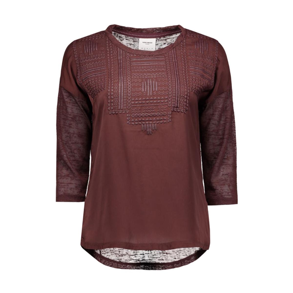 vmsally 3/4 foam print top dnm jrs 10162010 vero moda t-shirt decadent chocolat
