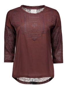 vmsally 3/4 foam print top dnm jrs 10162010 vero moda t-shirt decadent chocolat