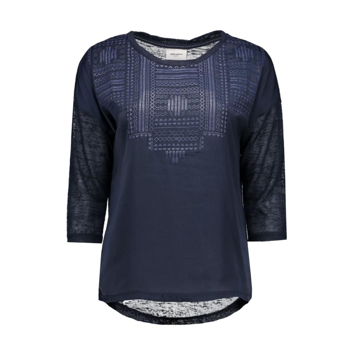 vmsally 3/4 foam print top dnm jrs 10162010 vero moda t-shirt navy blazer