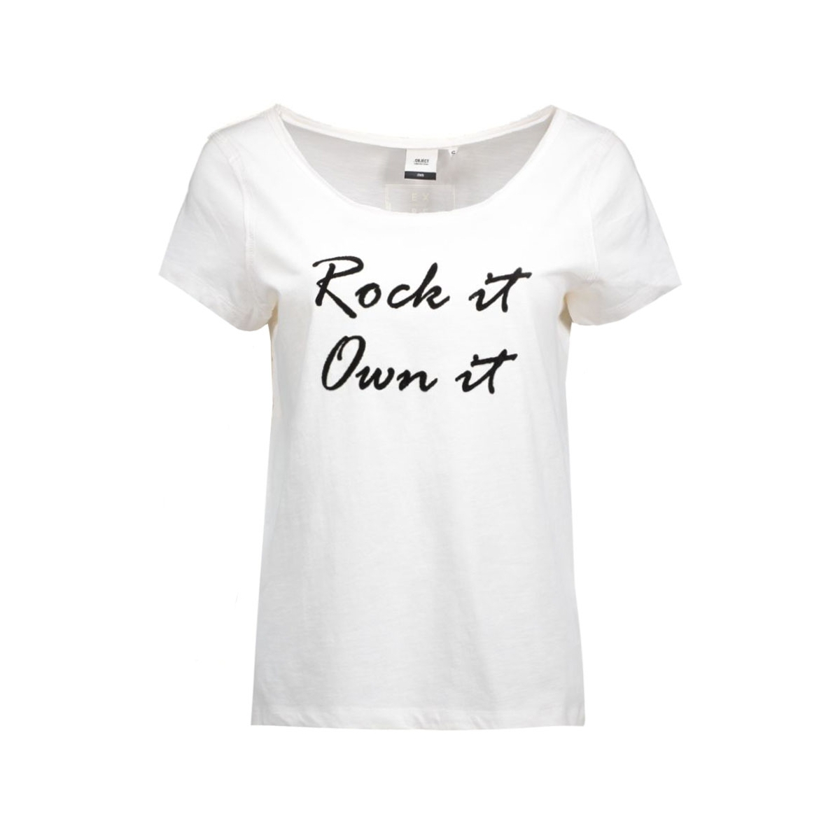 objfrancis marie s/s top .i 87 23023187 object t-shirt gardenia