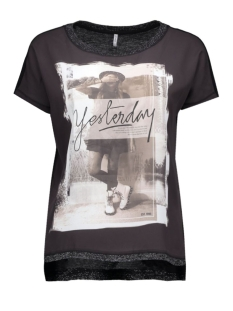Only T-shirts onlVICKELA S/S TOP BOX JRS 15124813 Black