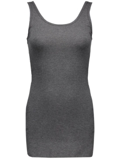 onlLIVE LOVE LONG TANK TOP NOOS 15060061 Dark Grey Melange