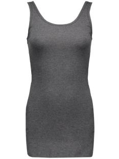 onllive love long tank top noos 15060061 only top dark grey melange