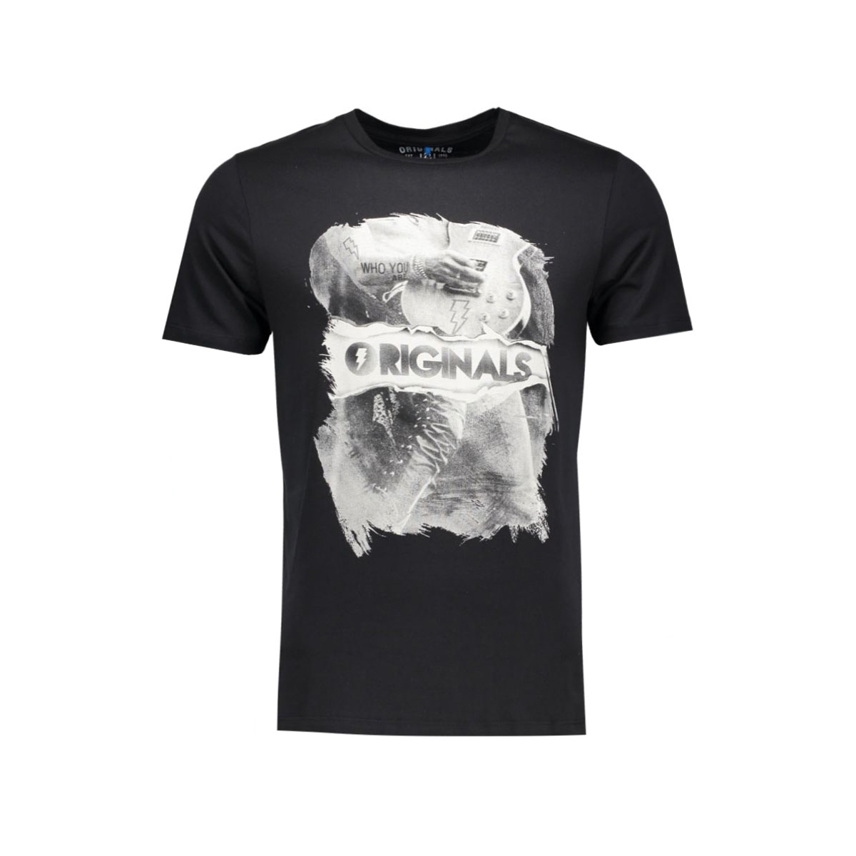 jorcoated tee ss crew neck 12112544 jack & jones t-shirt black
