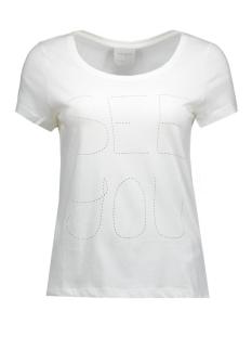 vmjulie stitch ss top box dnm jrs 10162537 vero moda t-shirt snow white