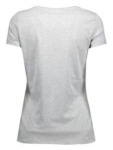 vmjulie stitch ss top box dnm jrs 10162537 vero moda t-shirt light grey melange