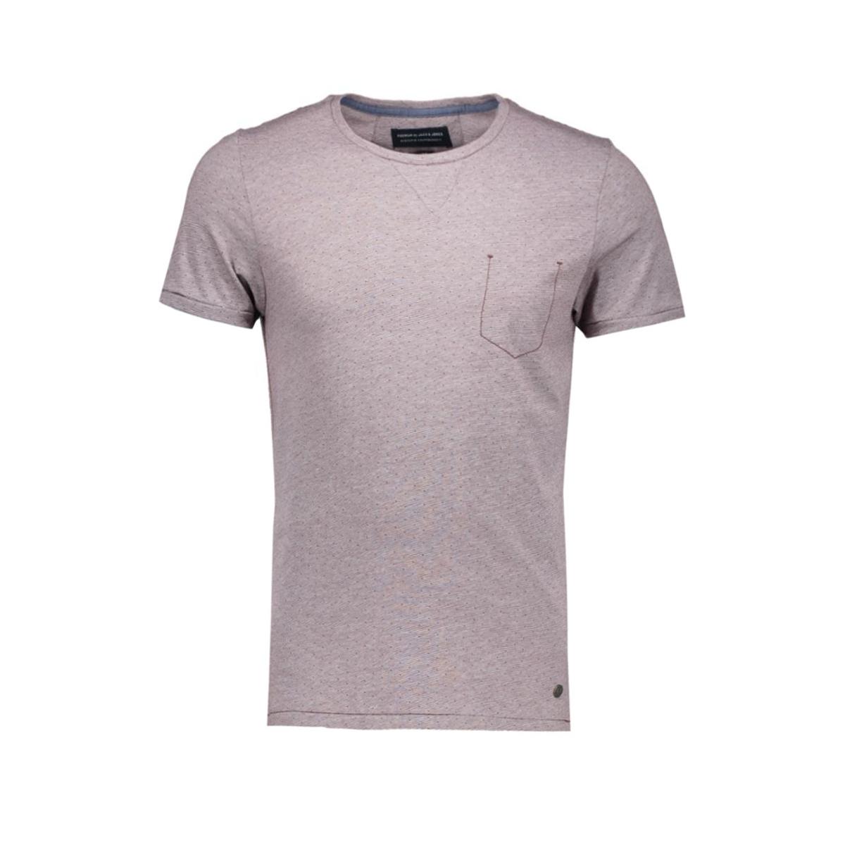 jjprjack tee ss crew neck 12105309 jack & jones t-shirt sassafras