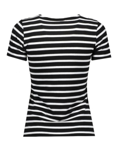 onlenva stripe s/s lace up top box 15130916 only t-shirt black/diffa