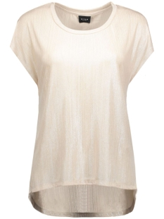 Vila T-shirts VIPOL S/S TOP 14037540 Frosted Almond