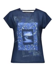 vmrosali ss wide top box dnm jrs 10162932 vero moda t-shirt navy blazer