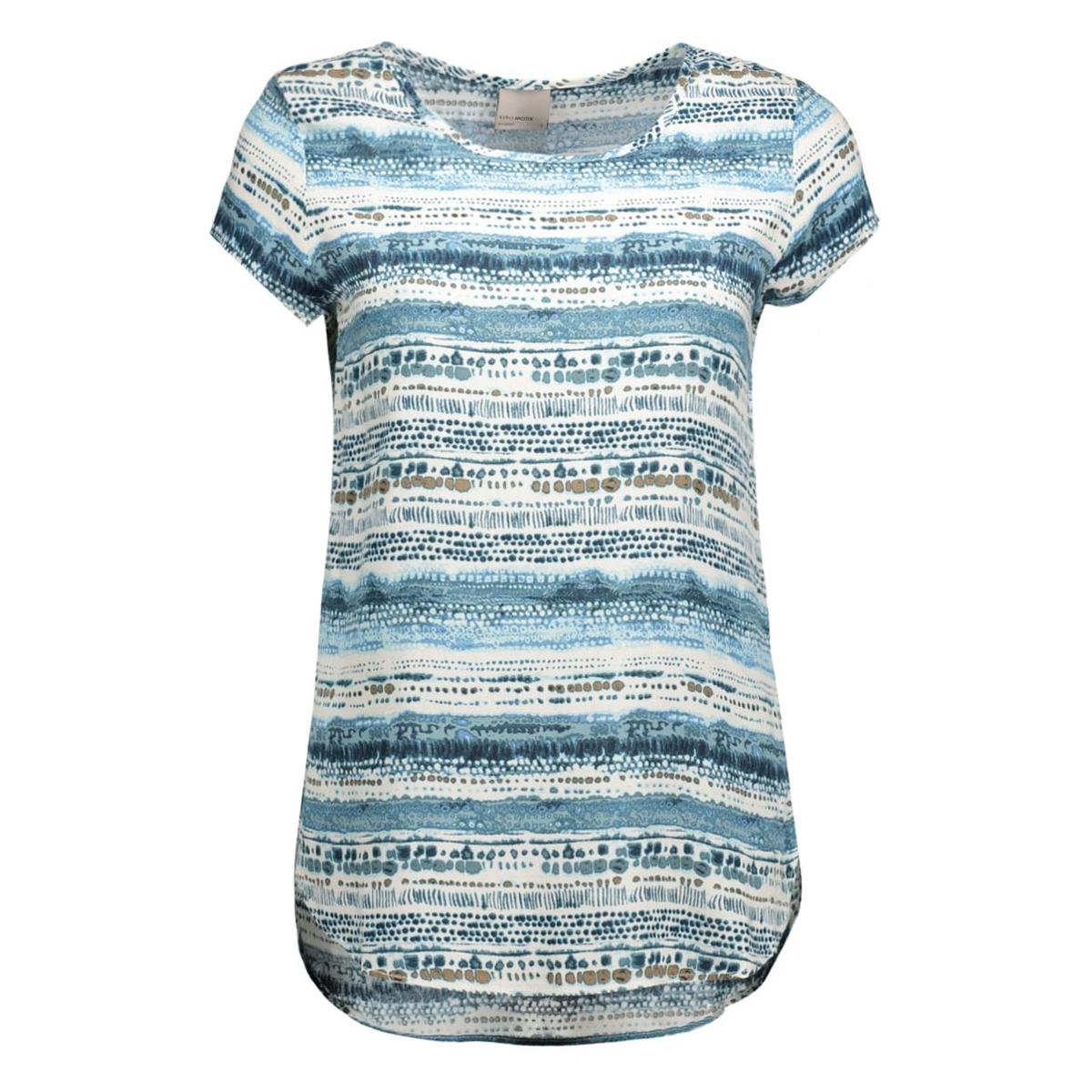 vmboca ss blouse multi printed 10132802 vero moda t-shirt moonbeam/nate print
