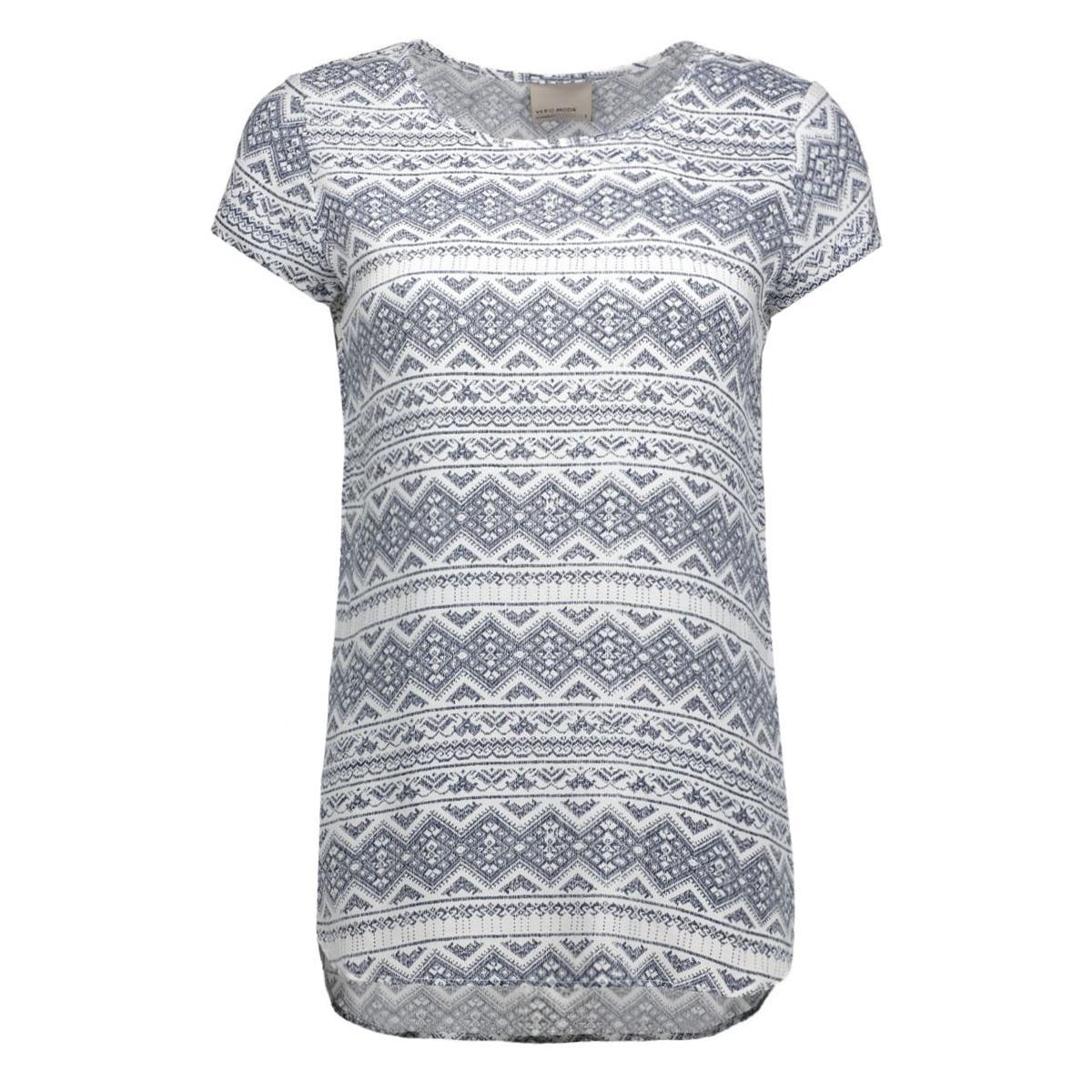 vmboca ss blouse print 10128072 vero moda t-shirt snow white/graphic